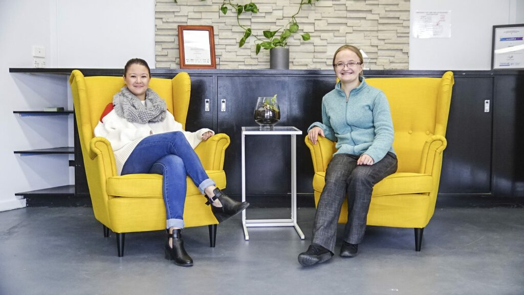 Dr Elena Kelareva, Founder and CEO, Gippstech and Stephanie Thoo, Program Manager, Startup Gippsland photo aldona kmiec