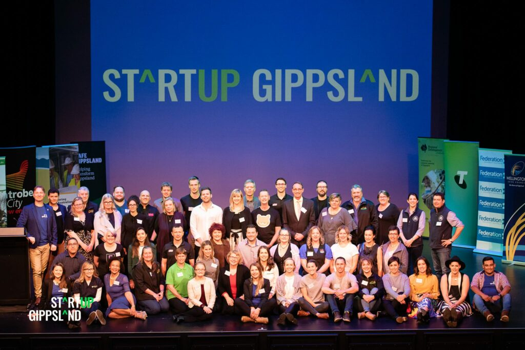 Startup Gippsland 2019 team and participants