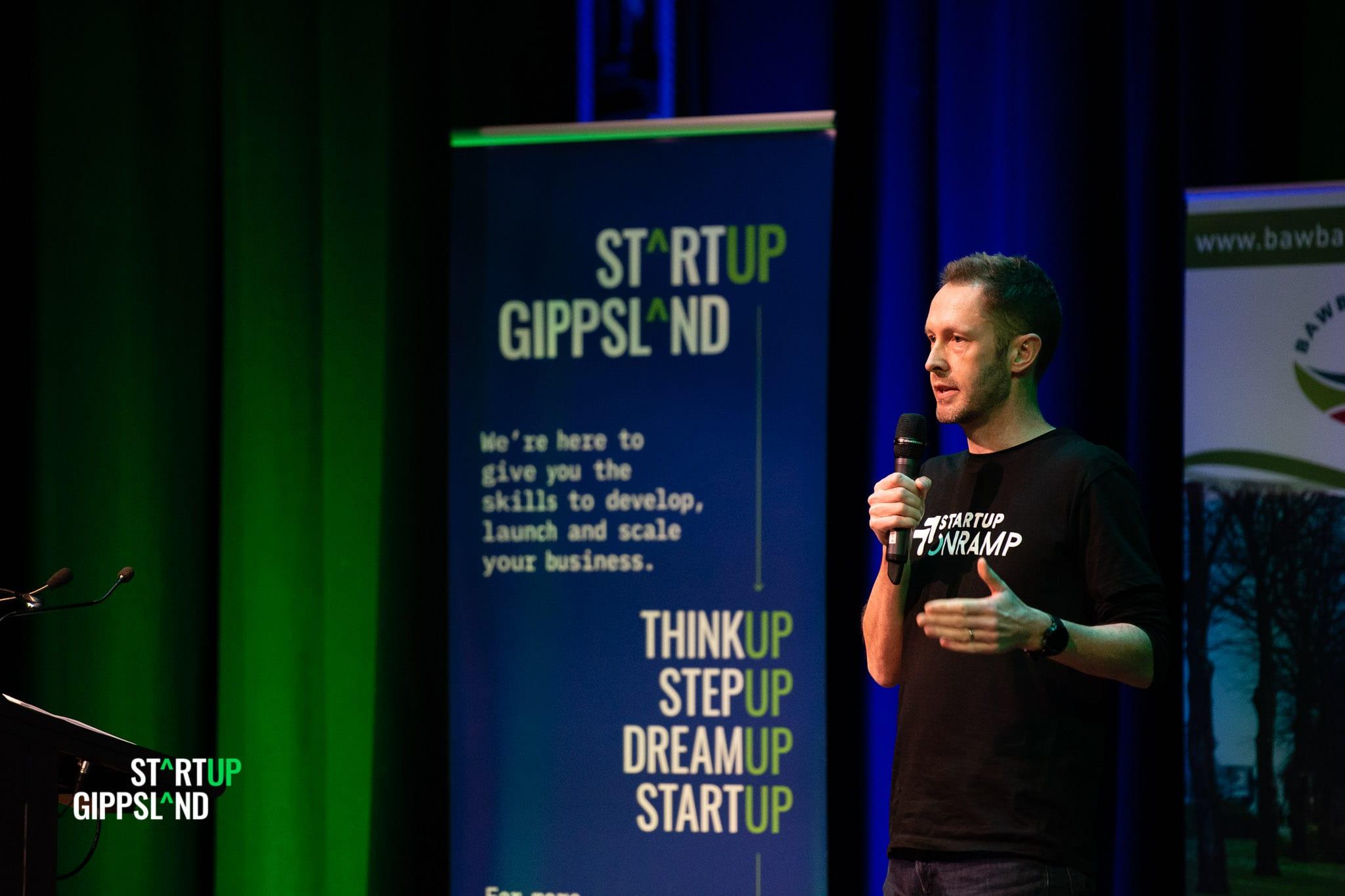Startup Gippsland Photo Gallery Showcase Judge Collin Kinner Startup Onramp Brisbane
