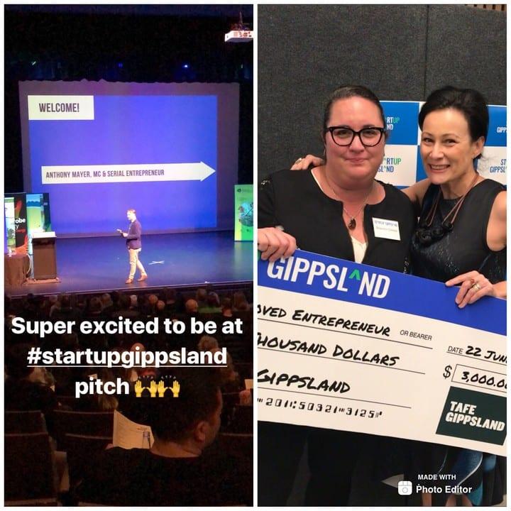 Shannon Davies Mentor and Startup Gippsland winner Annebelle