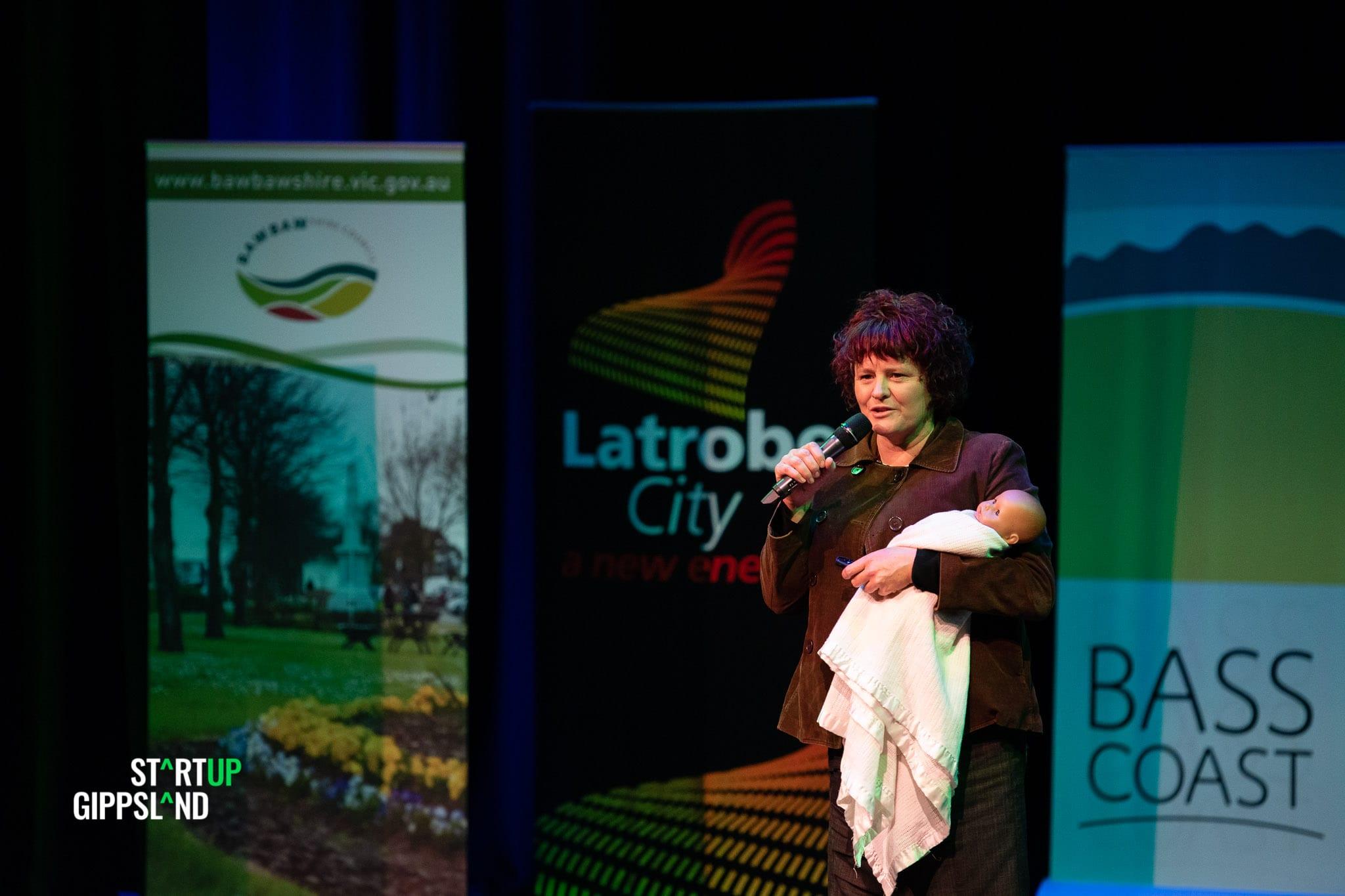 Kristen Robbins The Worksheds Alternative Startup Gippsland Showcase Jakub Fabijanski public speaking