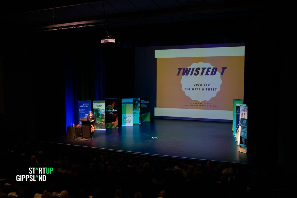 Twisted T Tea Lynda Challands Startup Gippsland Pitch festival