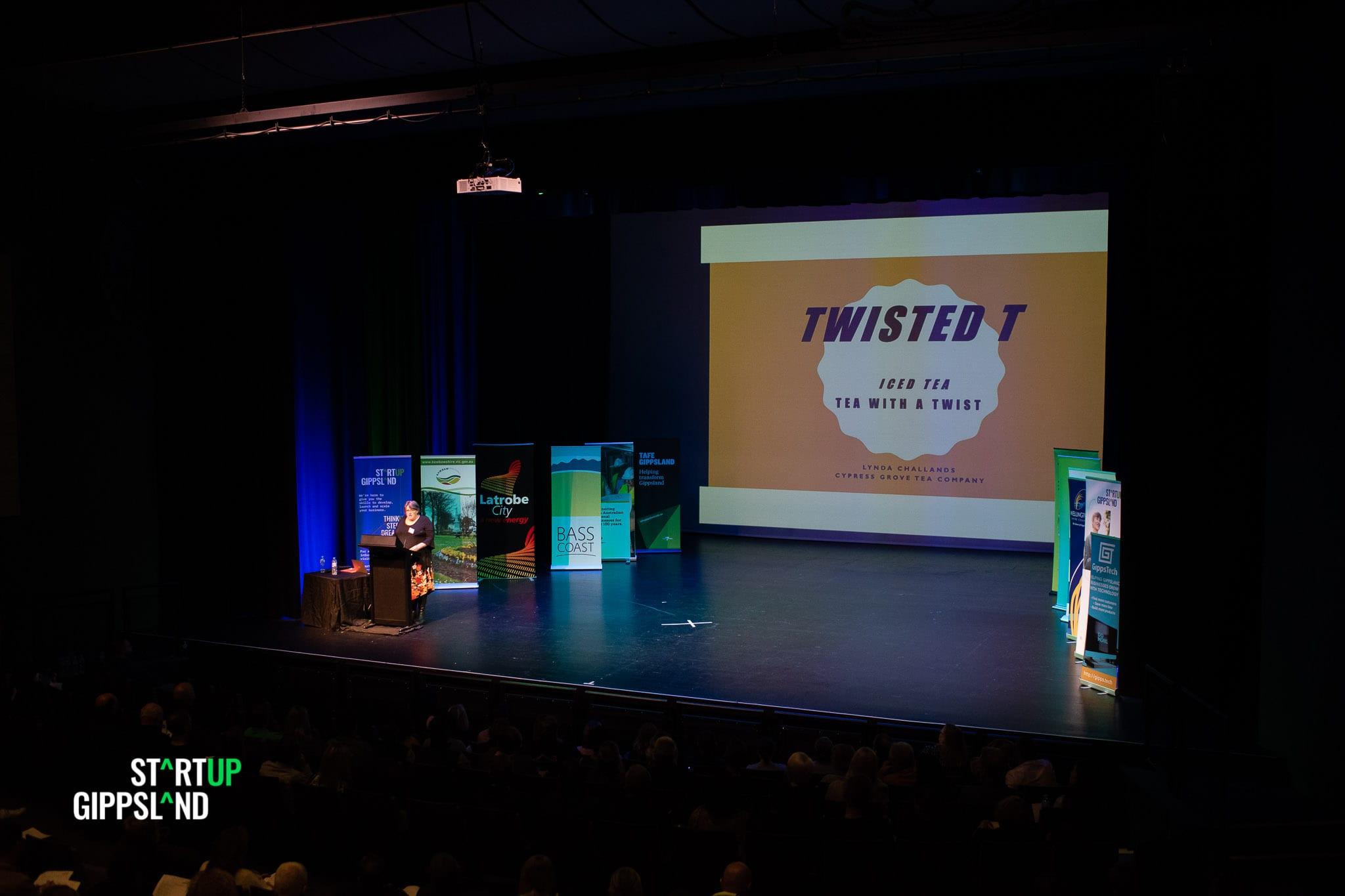 Twisted T Tea Lynda Challands Startup Gippsland Pitch festival