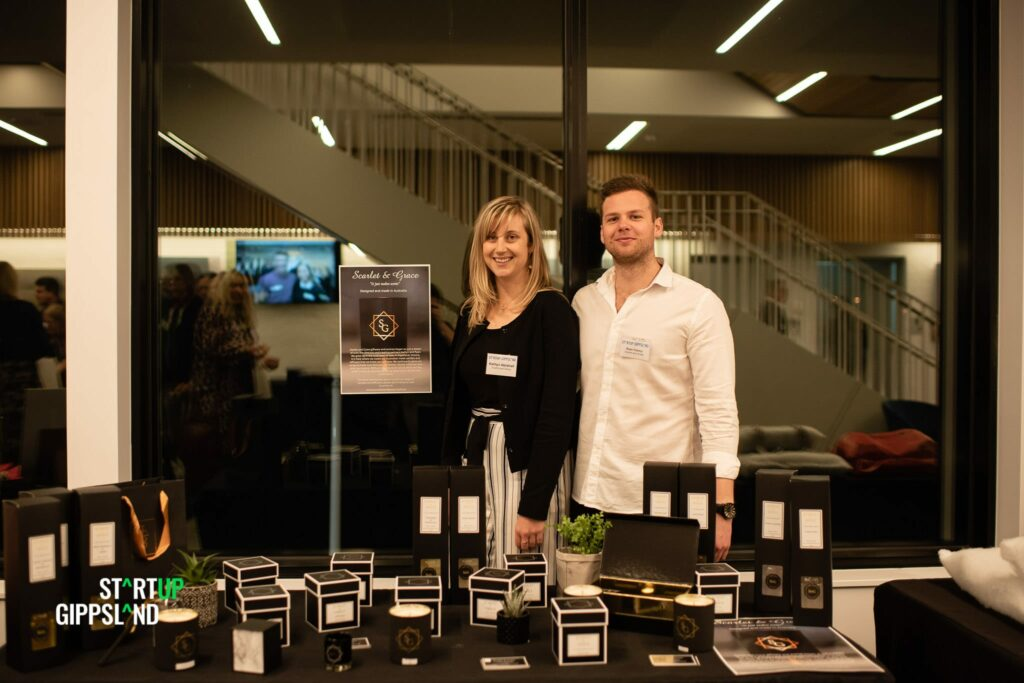 Scarlet and Grace scented candles Startup Gippsland Pitch