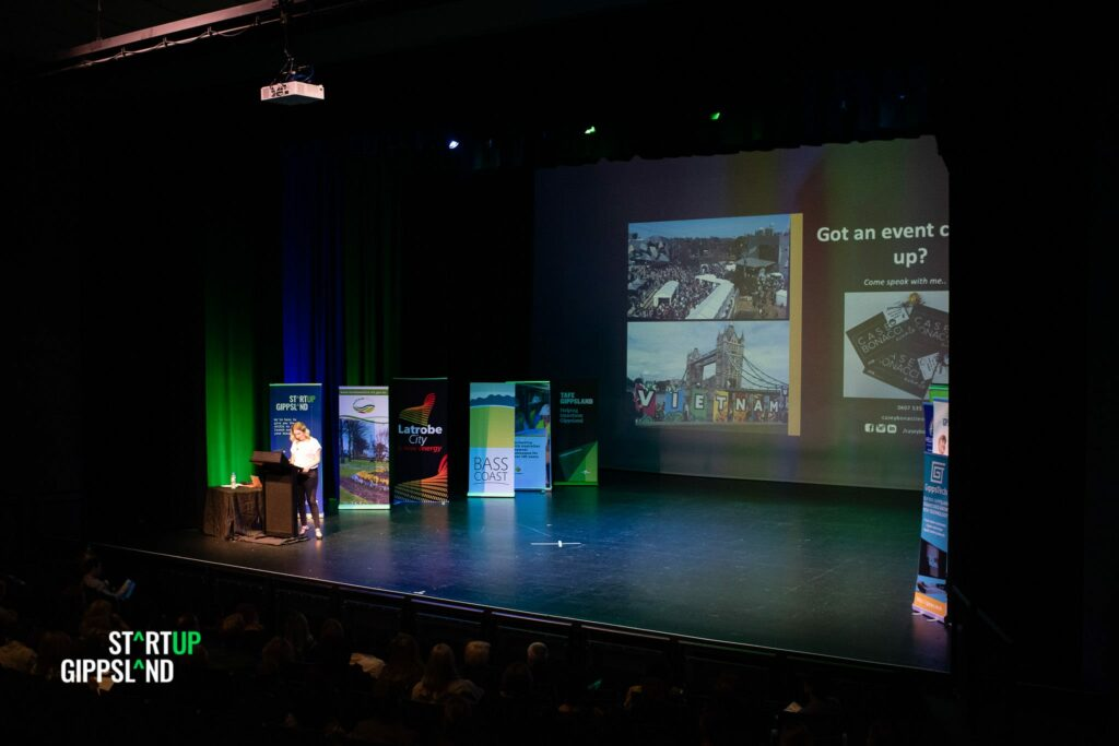 Casey Bonacci Events Startup Gippsland case study business