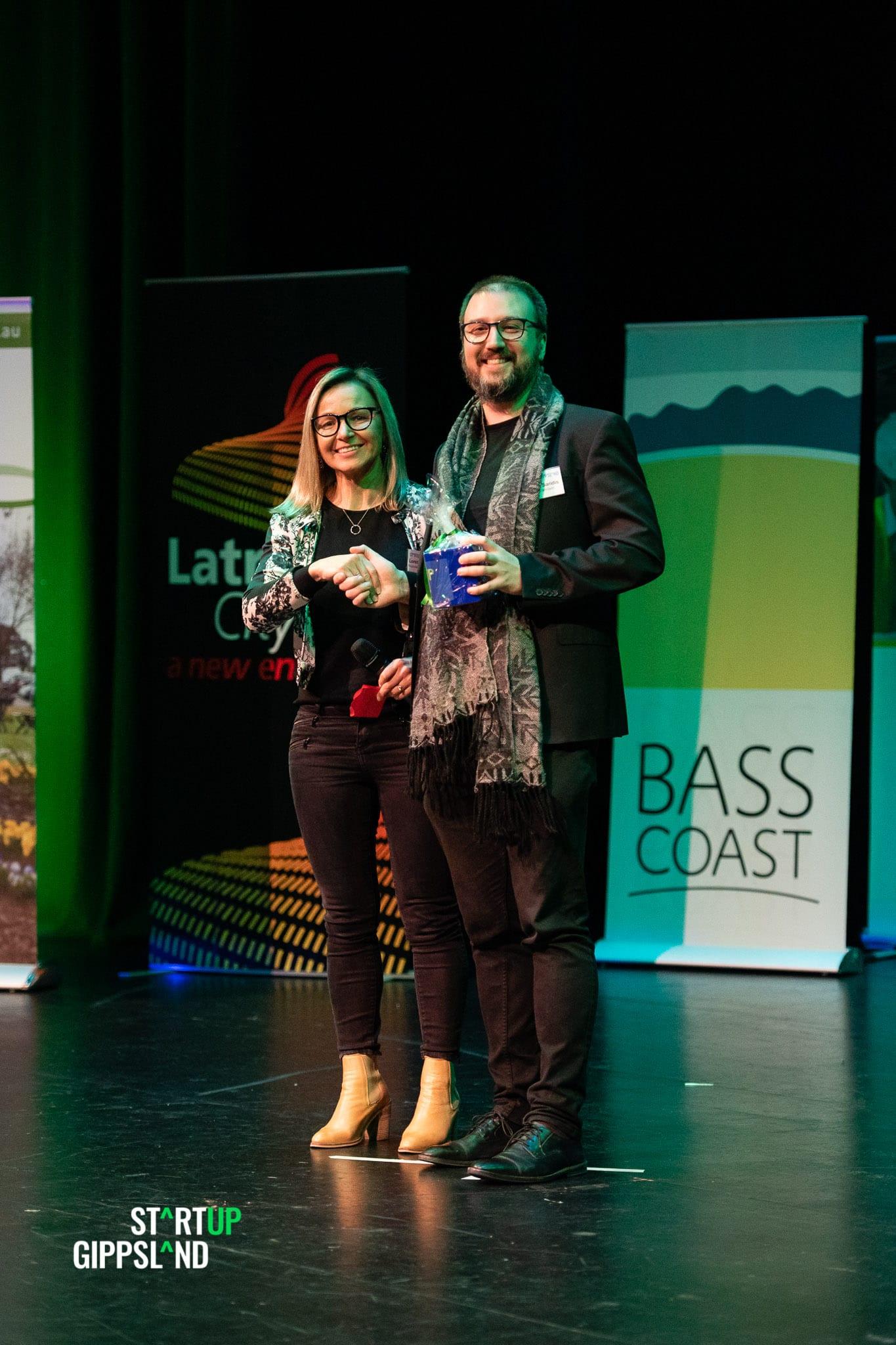 Angelo Saridis Urban Farmland Marketplace Startup Gippsland Winner People's choice award