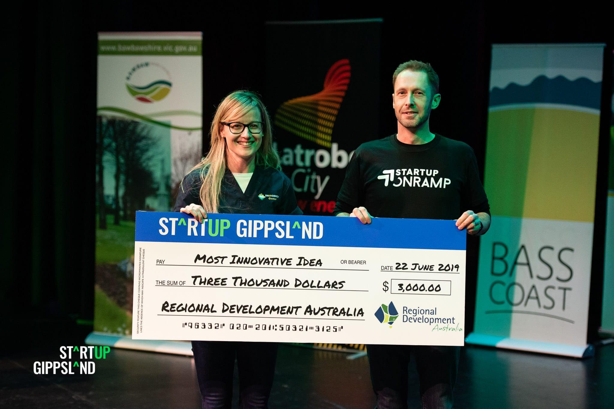 StartupGippsland Showcase Winner Dr Lucy Nijam CheckIt Health App case study