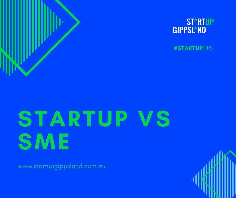 Startup vs SME Startup Tips