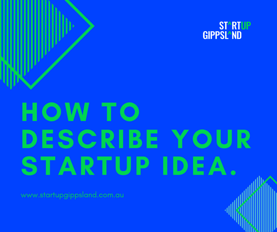 Startup Infographic How to describe your startup idea