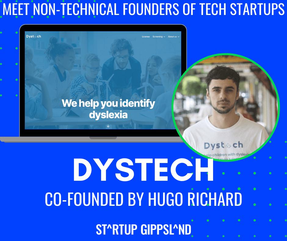 Non tech founder, Hugo Richard