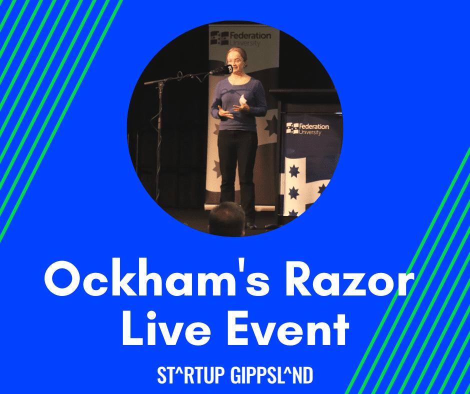 Elena Kelareva speaking at Ockham's Razor live event